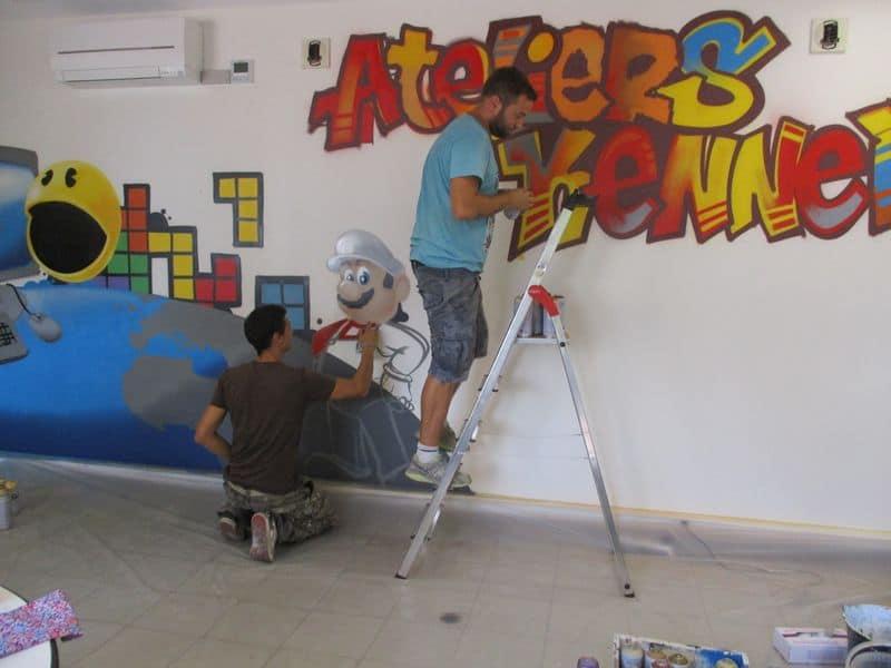 atelier pedagogique fresque ESAT 3