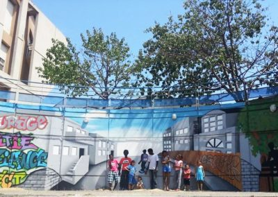 mur-Agage-atelier-pedagogique-fin-compressor decoration murale graffiti