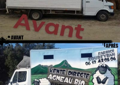 avant-apres-decoration-camion-fresque-montpellier-graff
