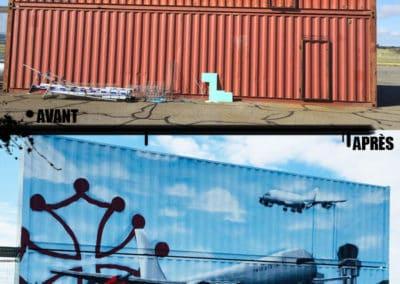 avant-apresdecoration-containers-fresque-airbus